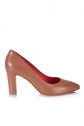 حذاء نسائي كعب وسط راس اصبع مدبب