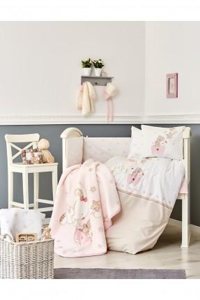 بطانية سرير بيبي - وردي / 100 * 120 سم /