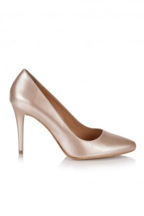 حذاء نسائي كعب عالي راس _ زهري