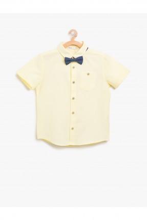قميص اطفال ولادي نصف كم - اصفر