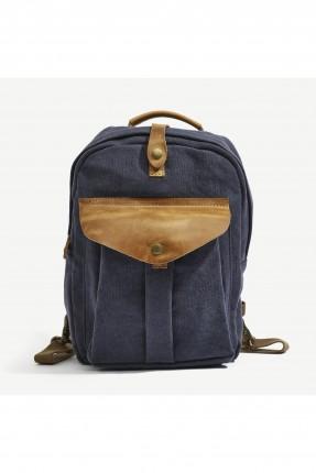 حقيبة ظهر نسائية بجيب من الامام - كحلي