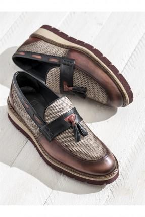 حذاء رجالية جلد - احمر