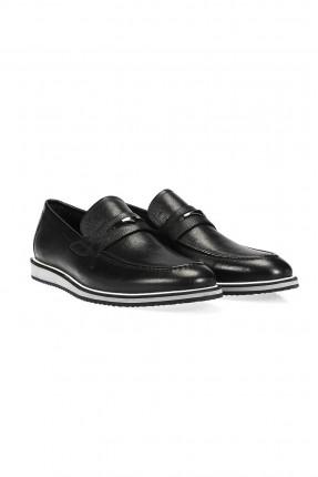 حذاء رجالي جلد - اسود