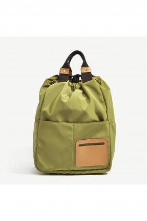 حقيبة ظهر نسائية مع جيب من الامام
