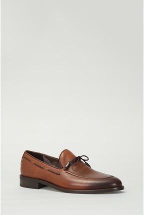حذاء رجالية جلد - بني