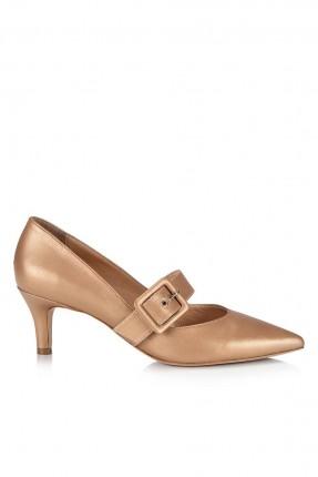 حذاء نسائي مع حزام _ ذهبي