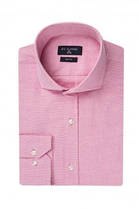 قميص رجالي بياقة ايطالية سبور شيك - زهري
