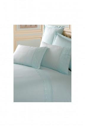 طقم غطاء سرير مزدوج بنقوش - ازرق
