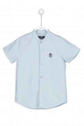 قميص اطفال ولادي ياقة صينية كم قصير