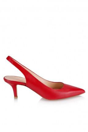 حذاء نسائي مع فتحة من الخلف _ احمر