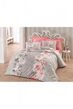 طقم غطاء سرير مزدوج - طبعة وردة