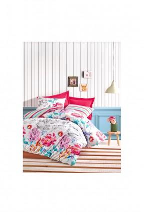 طقم غطاء سرير فردي منقشة ورود