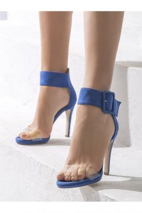 حذاء نسائي مع حزام - اازرق