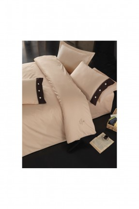 طقم لحاف سرير فردي - بيج