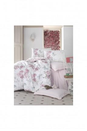 طقم غطاء سرير مفرد - نقشة وردة