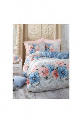 طقم غطاء سرير فردي - نقشة ورود