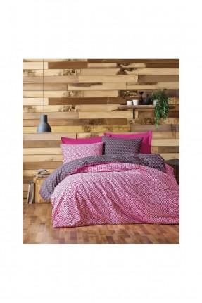 طقم غطاء سرير فردي -  نقش وردي
