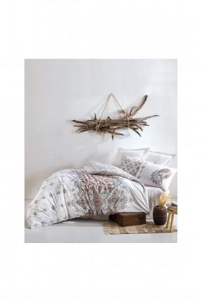 طقم غطاء سرير مزدوج مزخرف قطن