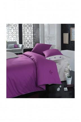 طقم غطاء سرير فردي - بنفسجي