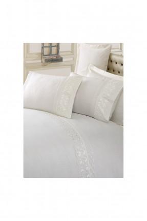 طقم غطاء سرير مزدوج بنقوش