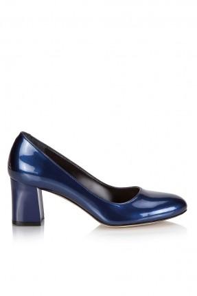 حذاء نسائي كعب عريض  _ ازرق داكن