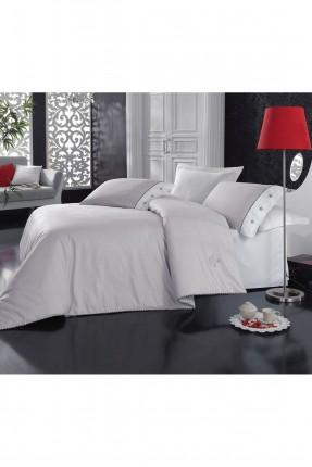 طقم غطاء سرير مفرد - رمادي