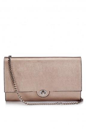 حقيبة يد نسائية مع قفل حديد