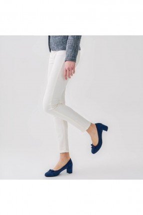 حذاء نسائي مع فيونكة _ ازرق داكن