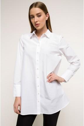 قميص نسائي طويل - ابيض