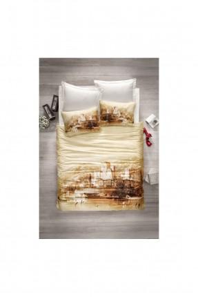 طقم غطاء سرير مزدوج قماش ساتان