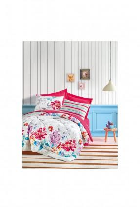 طقم لحاف سرير مزدوج - طبعة ورود