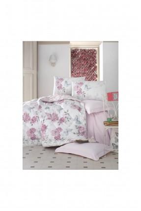 طقم لحاف سرير مفرد - طبعة ورد