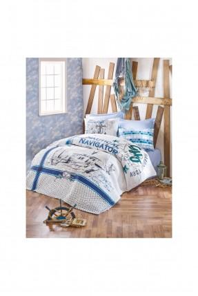 طقم لحاف سرير فردي - قماش رانفورس