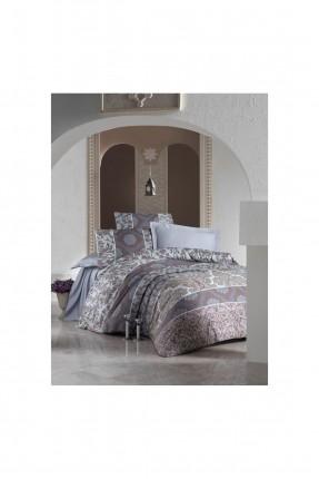 طقم لحاف سرير مزدوج - قماش ساتان