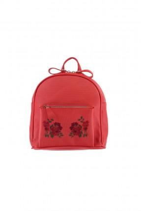 حقيبة ظهر نسائية بنقشة زهور من الامام