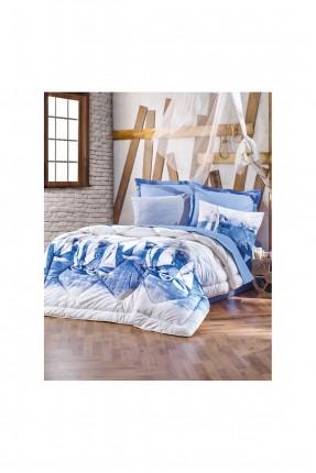طقم لحاف سرير مزدوج - حشوة سيليكون