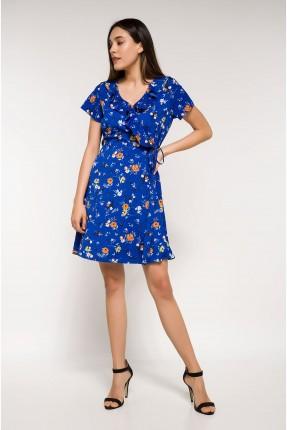 فستان سبور مع كشكش منقش بورد