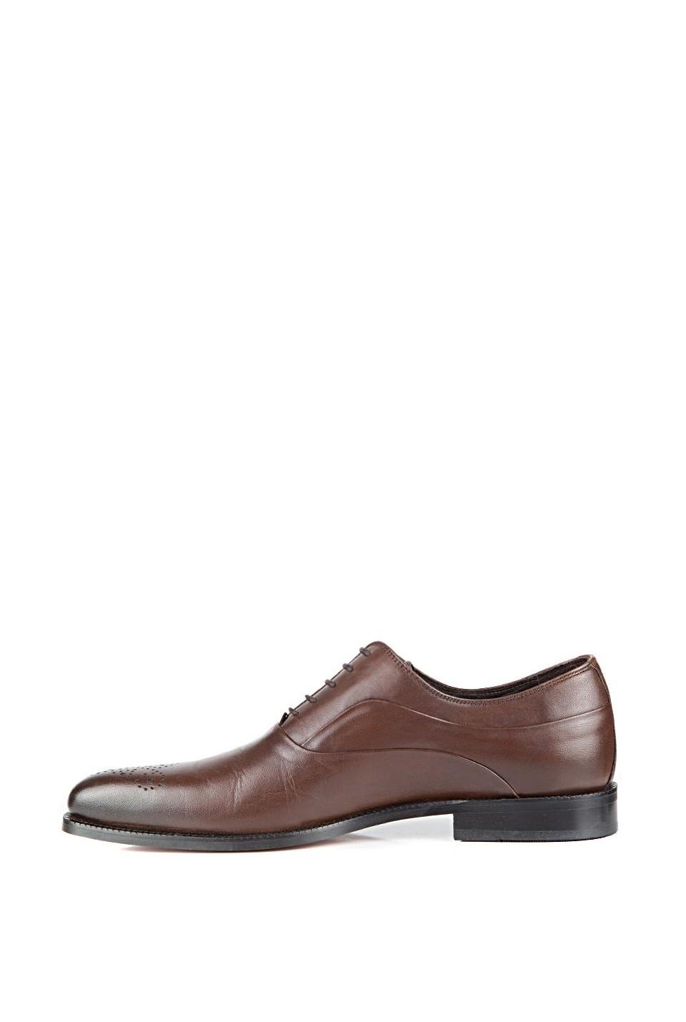 60889d736 صورة 1 من اصل 4. حذاء رجالي رسمي جلد - بني - للبيع بالجملة - دي اس دامات - DS  damat