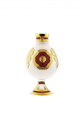 فازة زجاج نقش عثماني ذهبي