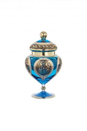 سكرية زجاج تركواز - طراز عثماني