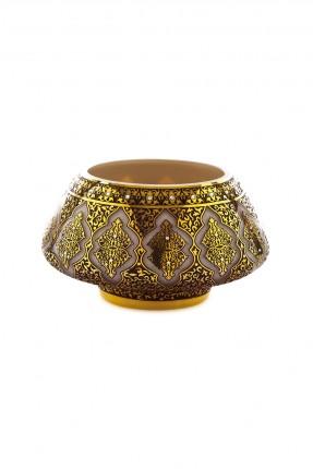 طبق فاكهة زجاج - نقش عثماني