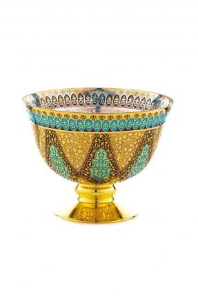 طبق فاكهة ذهبي - طراز عثماني