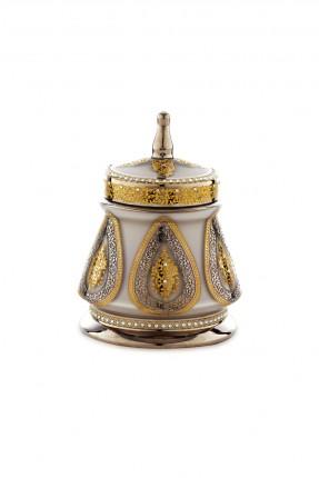 سكرية زجاج بيج - نقش عثماني