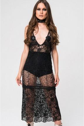 فستان لانجري - اسود