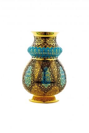 فازة فاخرة - نقش عثماني ذهبي