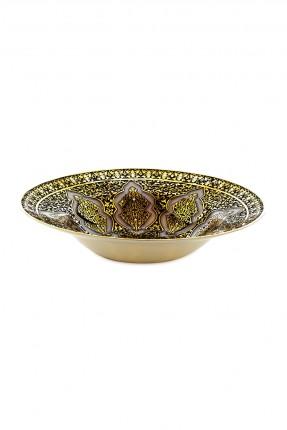 طبق عثماني فاخر بنقش ذهبي