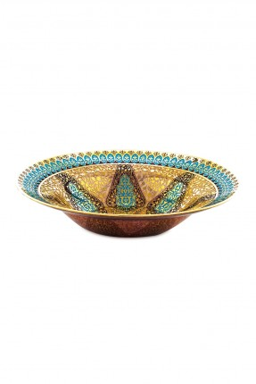 طبق عثماني فاخر بنقوش ذهبية