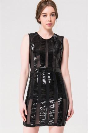 فستان رسمي مع شك - اسود