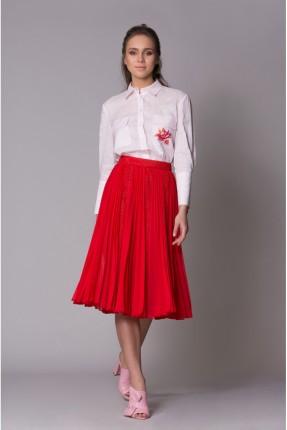 تنورة نسائية مع كسرات سبور - احمر