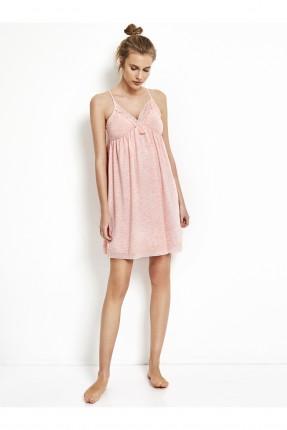 فستان نوم قصير مع دانتيل